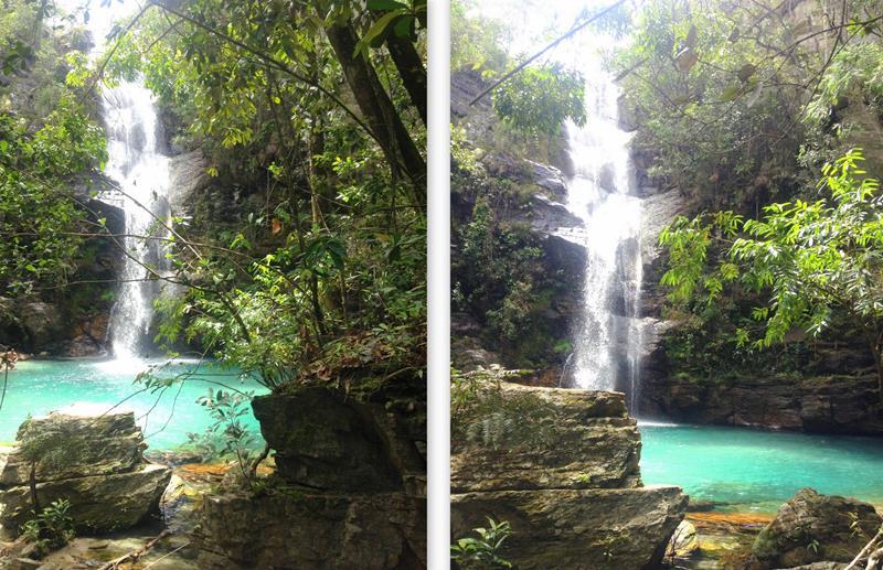 cachoeira santa barbara chapada veadeiros