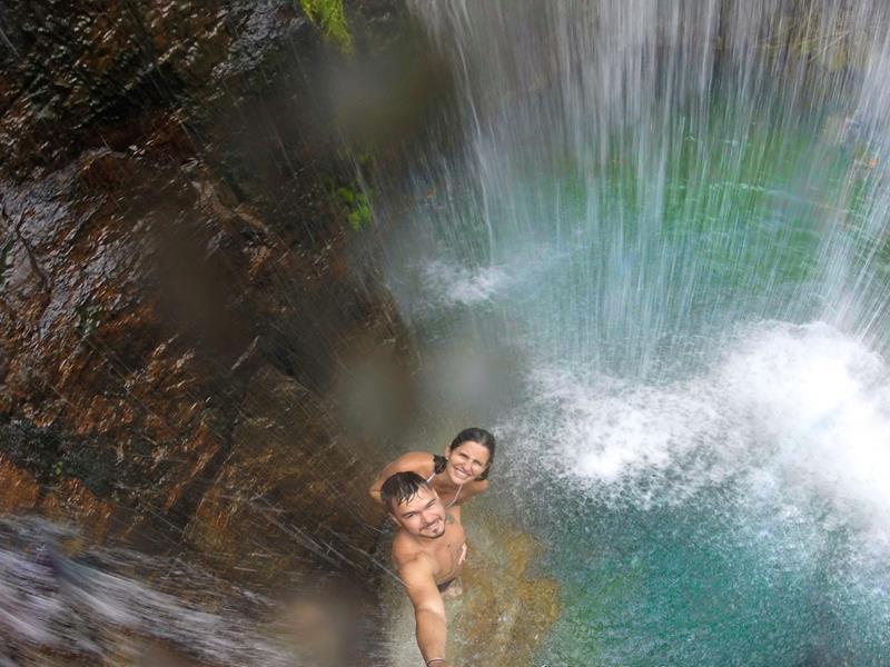 queda cachoeira santa barbara