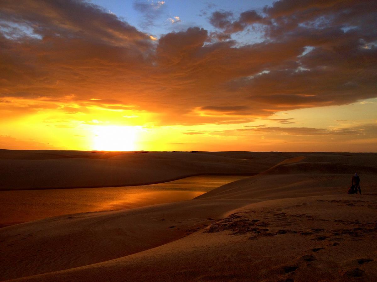 por do sol lagoa bonita lencois maranhences