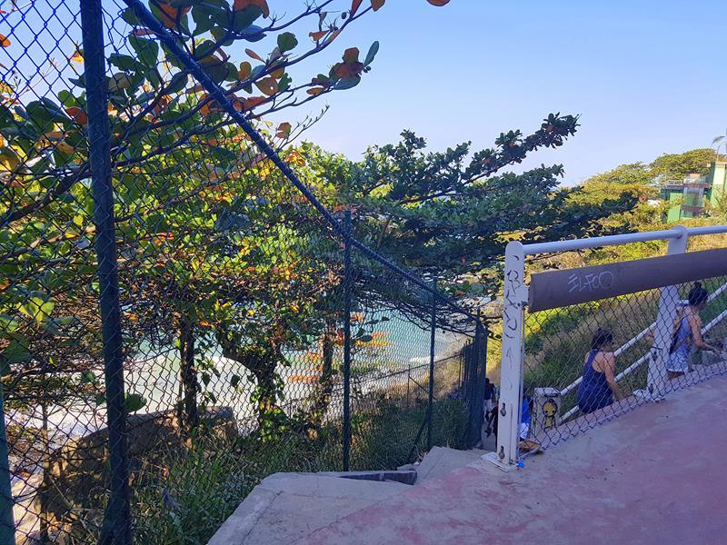 praia do vidigal escada